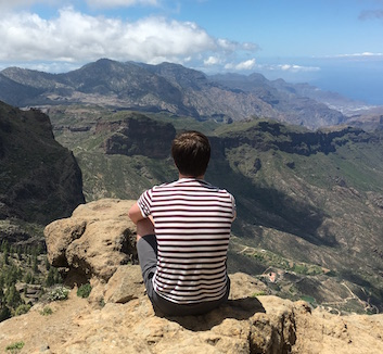 Adriaan van Rossum on the mountains in Gran Canaria
